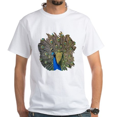 Peacock White T-Shirt