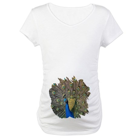 Peacock Maternity T-Shirt