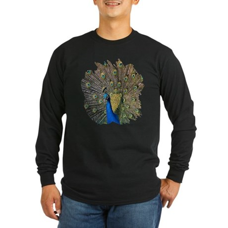 Peacock Long Sleeve Dark T-Shirt