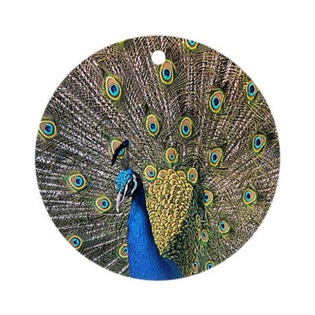Peacock Ornament (Round)
