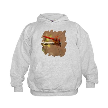 Red Dragonfly Kids Hoodie