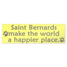 Happy Place Saint Bernard Bumper Bumper Sticker
