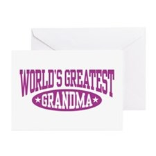 World's Greatest Grandma Greeting Cards (Pk of 10)