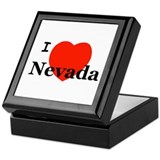 I Love Nevada Keepsake Box