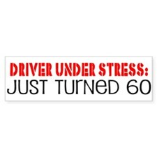 60th Birthday Bumper Bumper Sticker