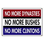 Dynasties, Bushes, Clintons Banner