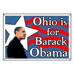 Ohio is for Barack Obama Star Banner