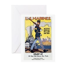 WWI U.S. Marines Greeting Card