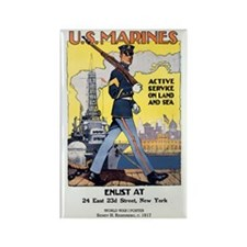 WWI U.S. Marines Rectangle Magnet (10 pack)