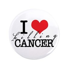 "i heart killing cancer 3.5"" Button (100 pack)"