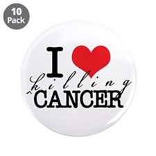 "i heart killing cancer 3.5"" Button (10 pack)"