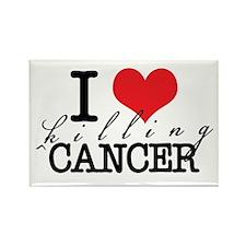 i heart killing cancer Rectangle Magnet