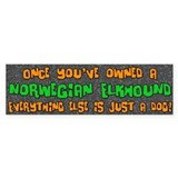 Just a Dog Norwegian Elkhound Bumper Car Sticker