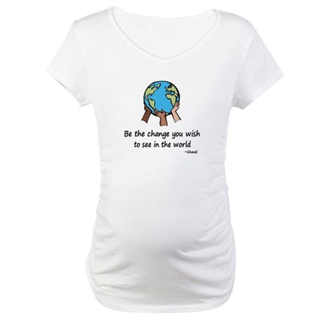 Be the Change Maternity T-Shirt