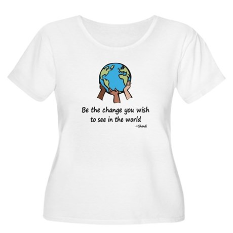Be the Change Women's Plus Size Scoop Neck T-Shirt