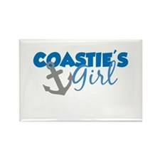 Coastie's Girl (Blue) Rectangle Magnet