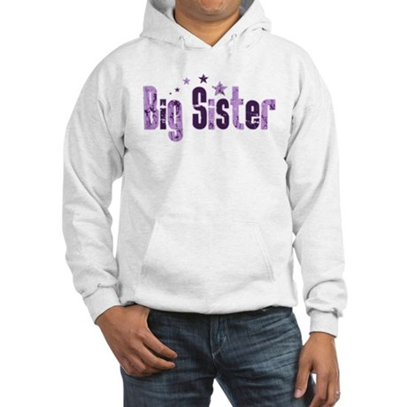 Purple Indie Stars Big Sister Hooded Sweatshirt