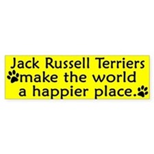 Happy Place Jack Russell Bumper Bumper Sticker