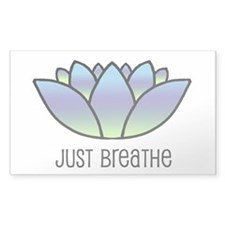 Just Breathe Rectangle Decal