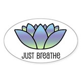 Just Breathe Oval Decal
