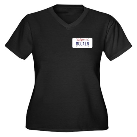 California Supports McCain Women's Plus Size V-Nec