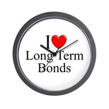 """I Love (Heart) Long Term Bonds"" Wall Clock"