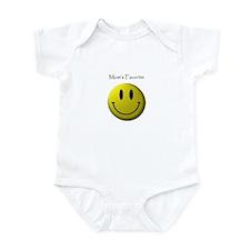 Mom's Favorite Smiley Face Infant Bodysuit