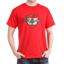 Lebanese distressed Flag T-Shirt