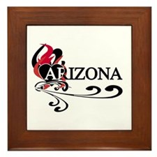 Heart Arizona Framed Tile