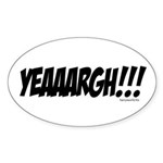 YEAAARGH!!! Oval Sticker (10 pk)