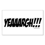YEAAARGH!!! Rectangle Sticker 10 pk)