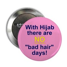 No bad hair days Button (10 pack)