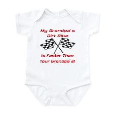 Grandpas Dirt Bike Is Fast Infant Bodysuit
