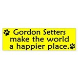 Happy Place Gordon Setter Bumper Car Sticker