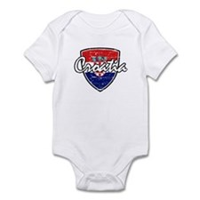 Croatia distressed Flag Infant Bodysuit