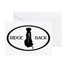 Ridgeback Oval W/ Text Greeting Card