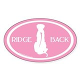 Ridgeback Oval W/ Text (white/pink) Oval Bumper Stickers