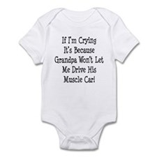 Drive Grandpas Muscle Car Infant Bodysuit
