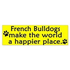 Happy Place French Bulldog Bumper Bumper Sticker