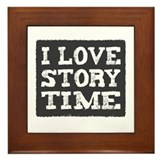 I Love Story Time Framed Tile