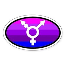 Transgender Oval 2 Oval Decal