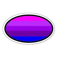 Transgender Oval 1 Oval Decal