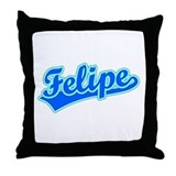 Retro Felipe (Blue) Throw Pillow