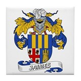 Jaimes Family Crest Tile Coaster