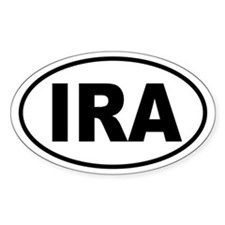 """IRA Euro Tag"" Oval Decal"