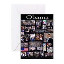 Unique Barack obama Greeting Cards (Pk of 10)