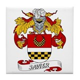 Javier Family Crest Tile Coaster