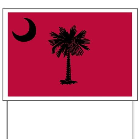 Black and Garnet South Carolina Flag Yard Sign