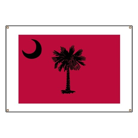 Black and Garnet South Carolina Flag Banner