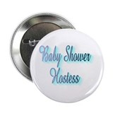 BLUE BABY SHOWER HOSTESS Button